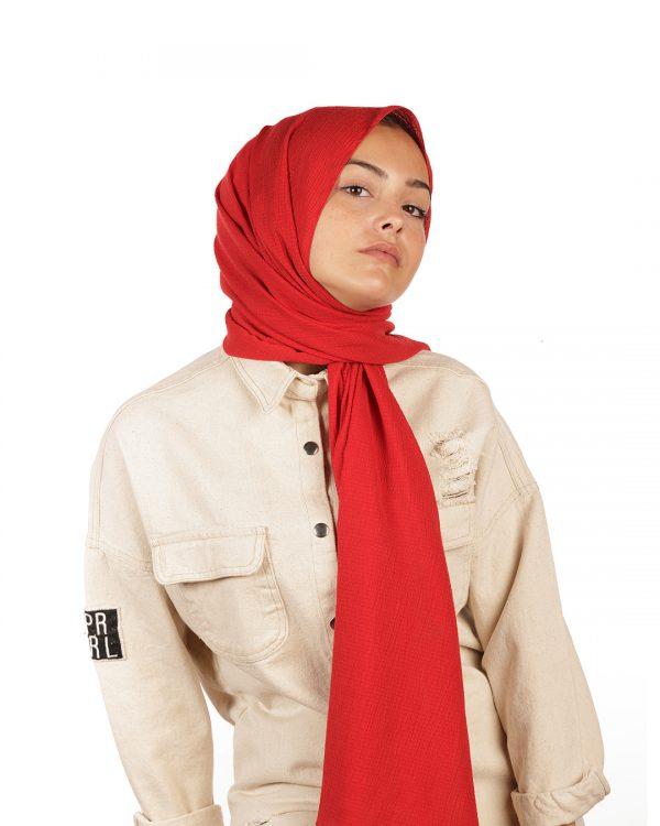 Kırmızı Mio Caz Şal