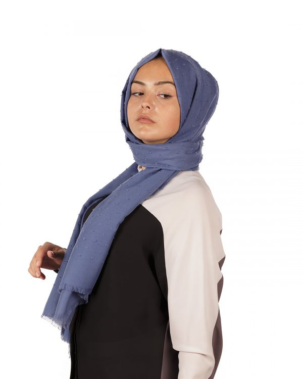 Kot Mavi Pıtpıt Şal